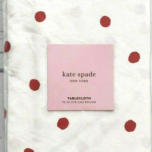 Kate Spade Charlotte Street Dot Round Tablecloth